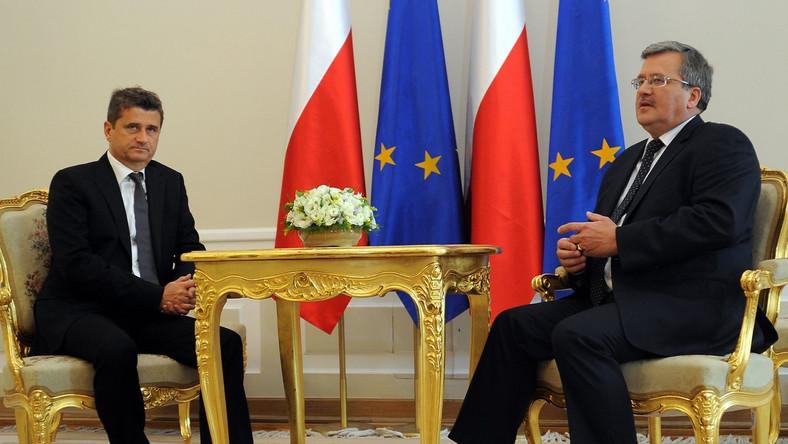 Janusz Palikot podczas konsultacji powyborczych u prezydenta