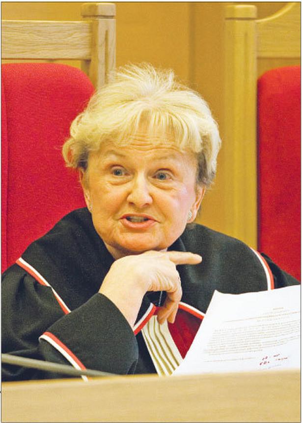 Sąd Rejonowy w Łodzi miał prawo zadać w ten sposób sformułowane pytania prawne - stwierdziła sędzia sprawozdawca Ewa Łętowska Fot. Wojciech Górski