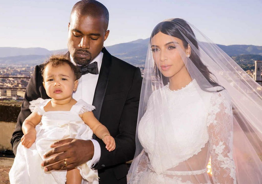 Kanye West z rodziną