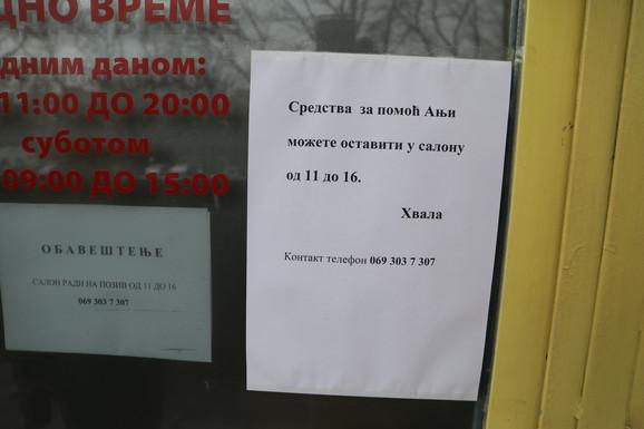 Skupljanje pomoći za Anju na Novom Beogradu