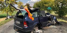 Tragiczny wypadek pod Lubrzą. Nie żyje jedna osoba