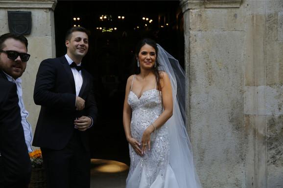Bojan i Aleksandra na venčanju