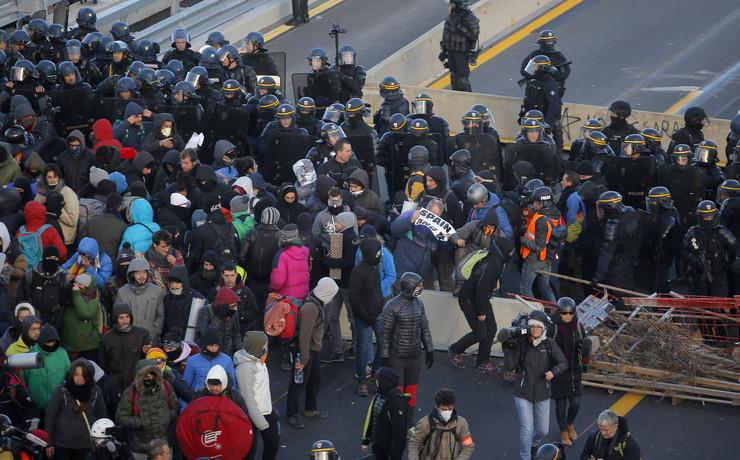 Francuska, protesti na granici