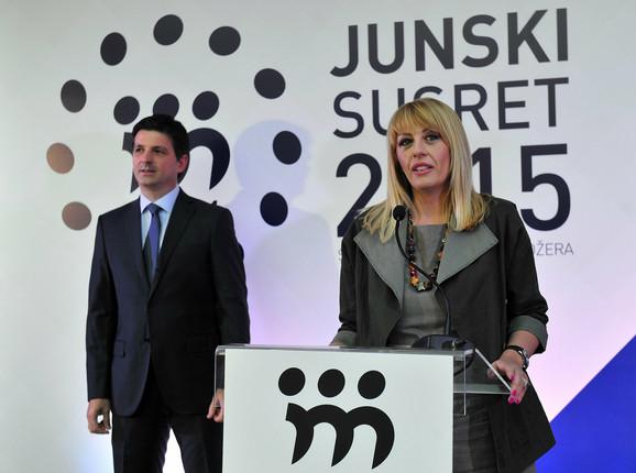 Predsednik SAM Milan Petrović i ministarka bez portfelja Jadranka Joksimović