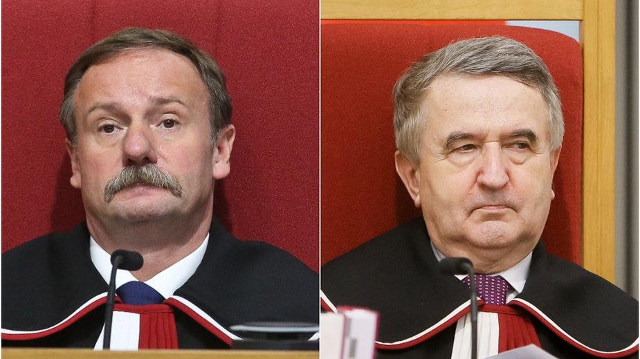 Od lewej: Piotr Pszczółkowski i prof. Leon Kieres