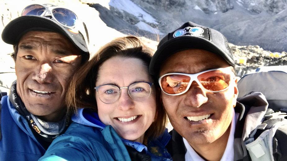 Magda z Dawą i Kilu, dwoma zimowymi zdobywcami K2