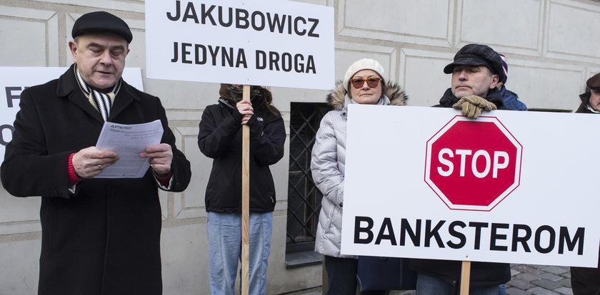 Frankowicze protestowali w Poznaniu