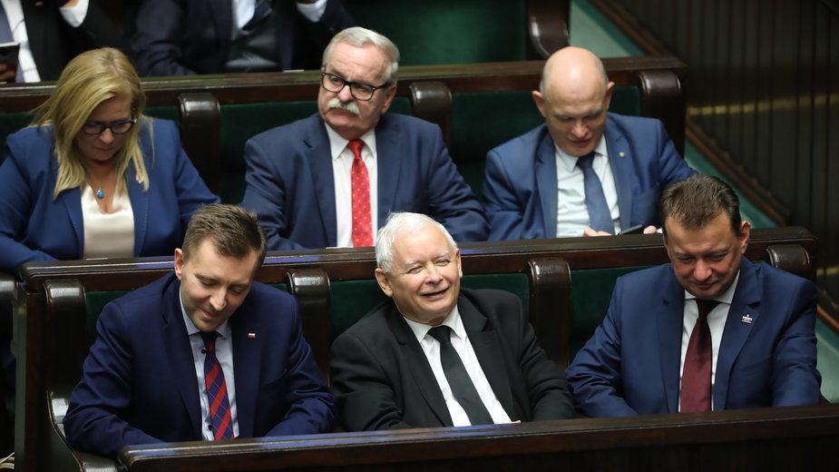 Jarosław Kaczyński, Mariusz Błaszczak, Małgorzata Gosiewska
