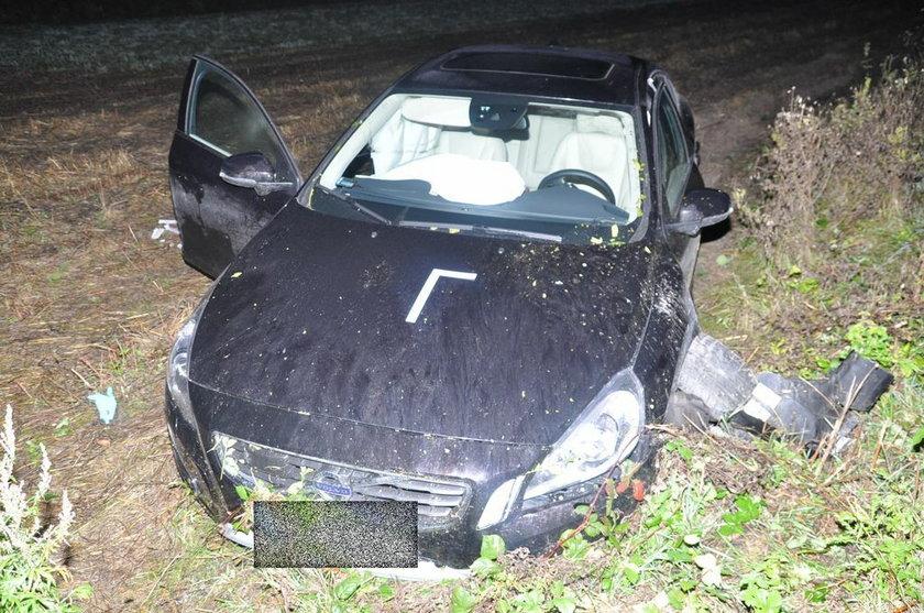Samochód Piotra Adamczyka po wypadku