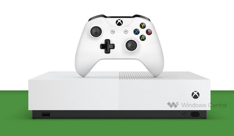 Xbox One S All-Digital pokazał się na renderach