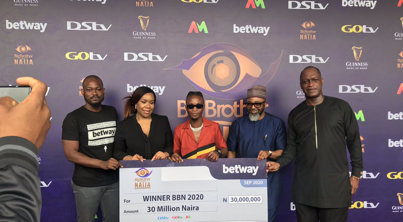 BBNaija 2020: Twitter reactions trail Laycon's cheque presentation
