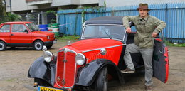 Zabytkowe auta na Pradze