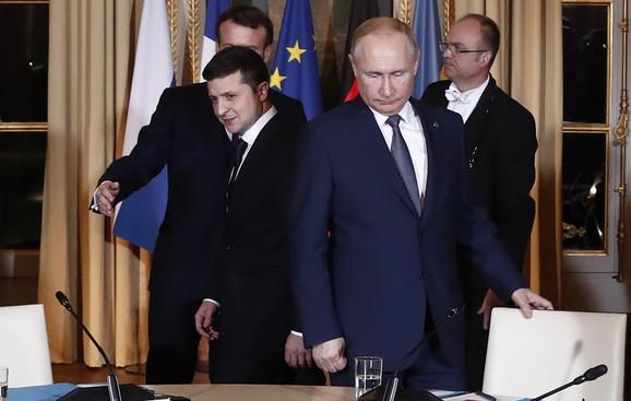Putin Zelenski, sastanak u Parizu
