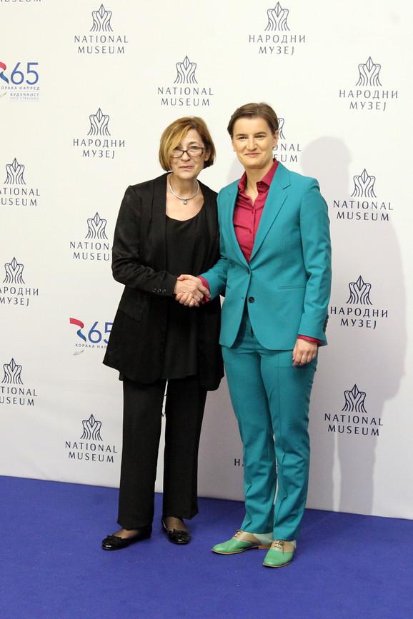 Bojana Borić Brešković, direktorka Narodnog muzeja i Ana Brnabić
