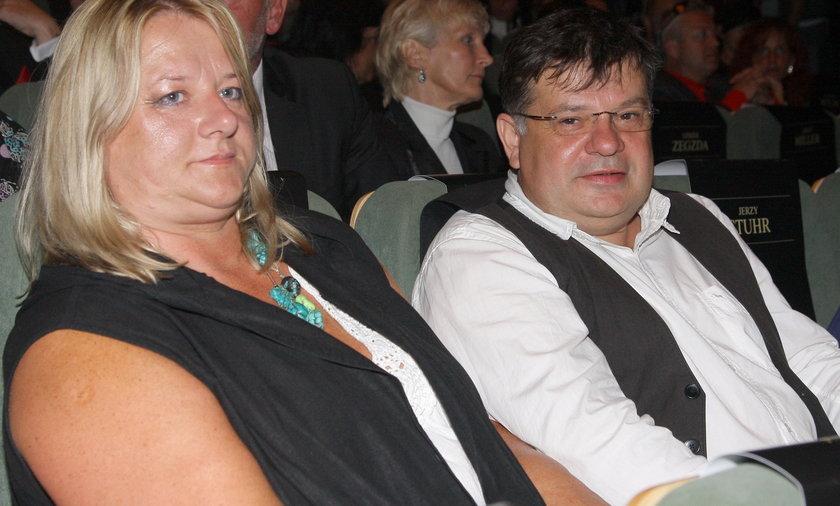 Krzysztof Globisz z żoną