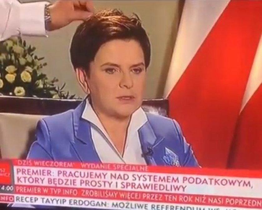 Zabawna wpadka z udziałem premier Beaty Szydło w TVP Info
