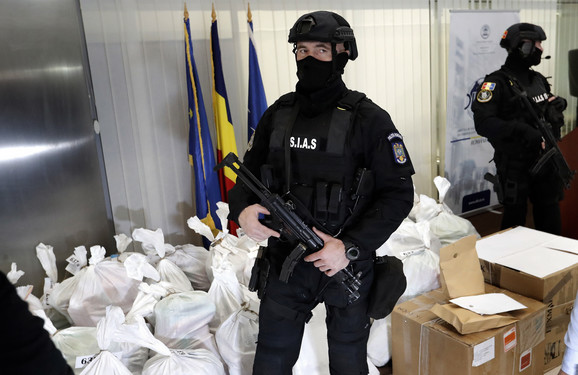 U delti Dunava u Rumuniji zaplenjeno je 1.040 kilograma kokaina