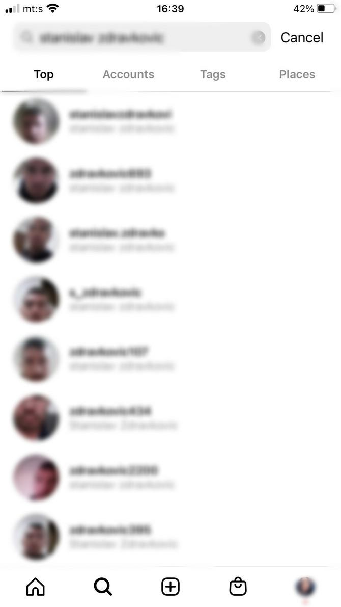 Ovo su samo neki od profila S.Z. koje smo pronašli na instagramu