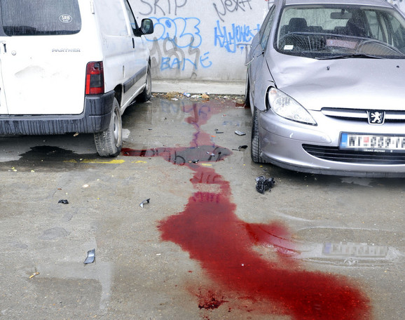 Tragovi krvi na mestu tragedije