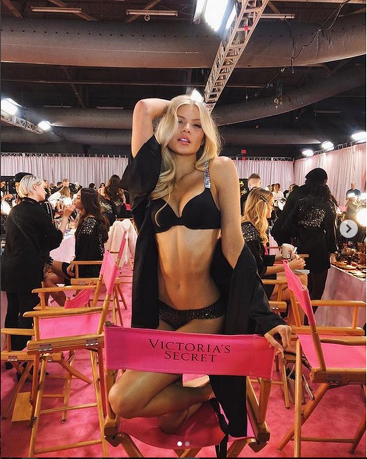 Latina blonde lingerie nude