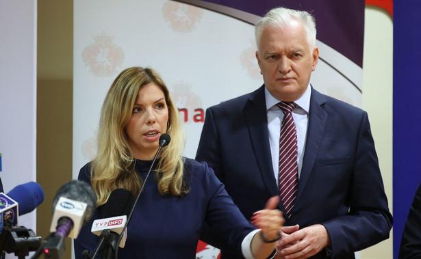Anna Kornecka i Jarosław Gowin