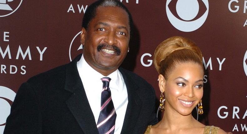 Matthew Knowles with his daughter Beyonce Knowles- Carter