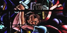 Hitler na witrażu w kościele