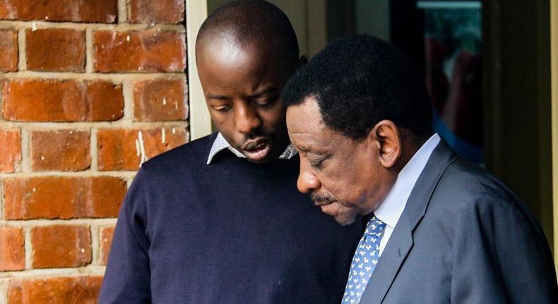 Raila Odinga Junior with Sen. Orengo. Raila Junior throws shade at Murkomen after big axed as Senate Majority leader