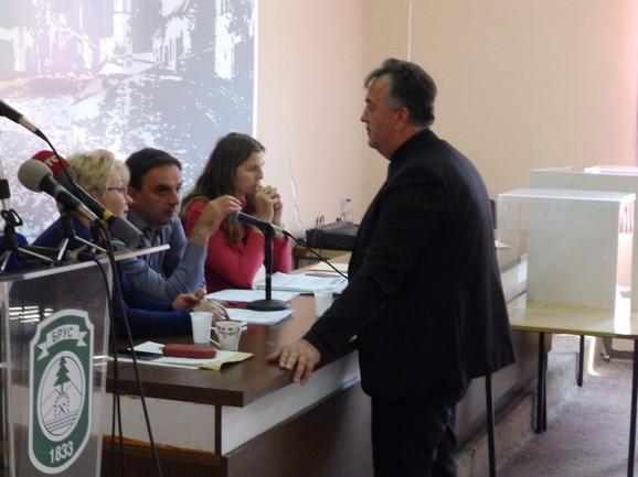 Milutin Jeličić Jutka na sednici Skupštine opštine