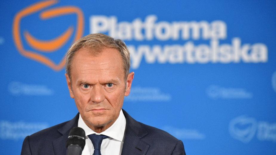 Przewodniczący Platformy Obywatelskiej Donald Tusk