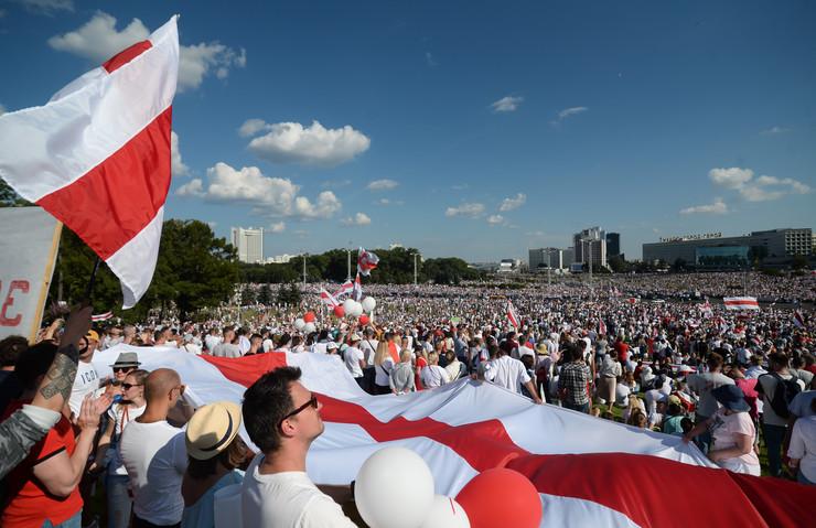 Minsk protest Belorusija