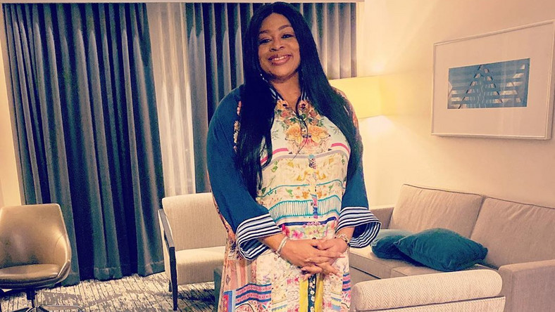 Nigerian gospel singer, Sinach has welcomed her first child after five years of marriage. [Instagram/TheRealSinach]