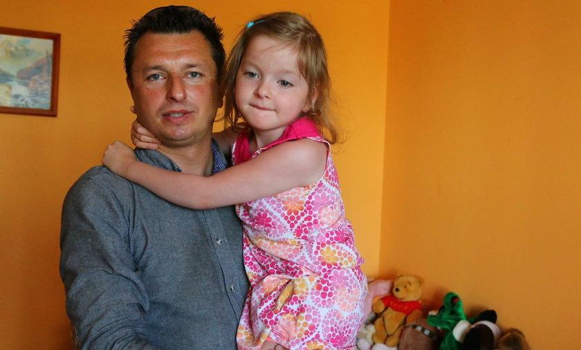 Paweł Fornal z córką Leną