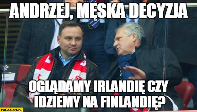 Andrzej Duda i Aleksander Kwaśniewski - mem