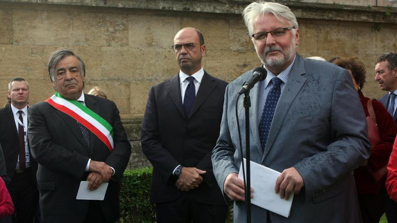 Witold Waszczykowski przebywa z wizytą we Włoszech