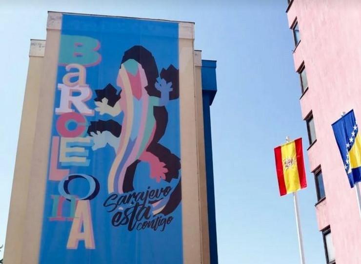 Sarajevo mural Barselona
