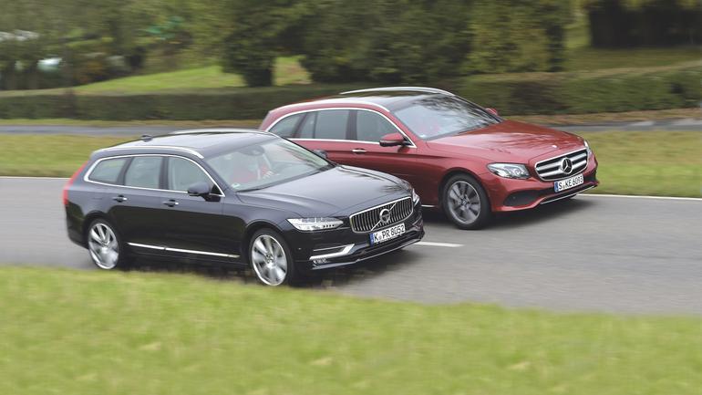Porównanie: Mercedes E220d kontra Volvo V90 D4