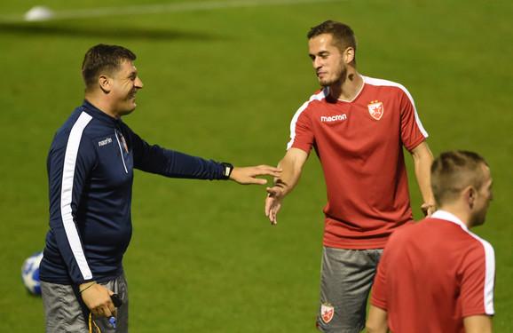 Trener Vladan Milojević u razgovoru sa Goranom Čaušićem
