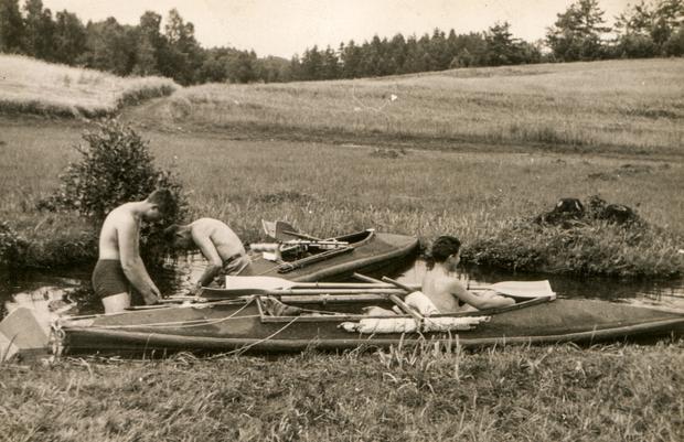 Spływ kajakowy w latach 60. XX w., Augustów