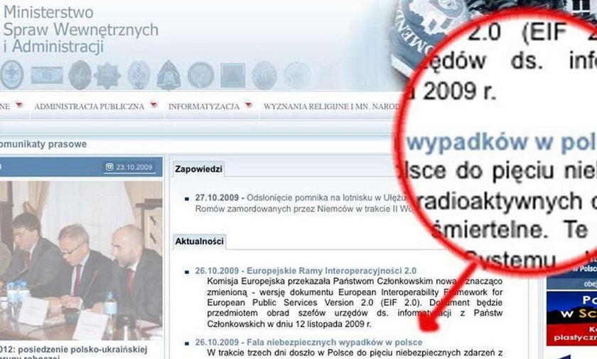 Skandal! Napisali Polska z małej litery!