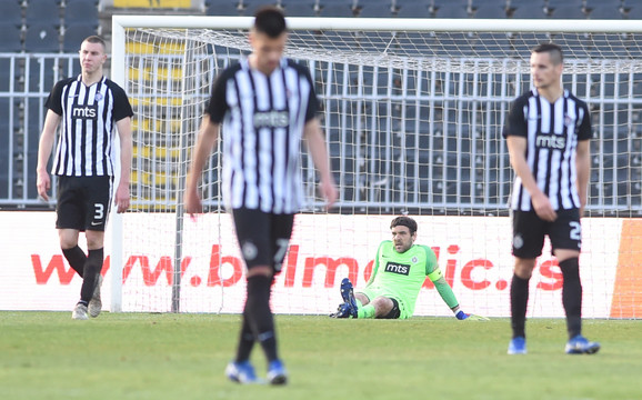 Očaj: Fudbaleri Partizana