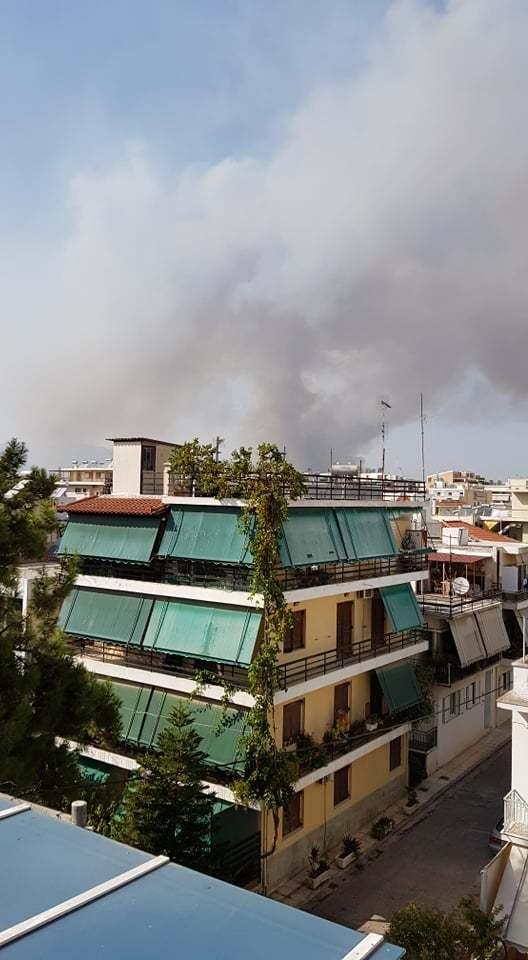 Ildikó teraszáról is látszódott a hatalmas füst
