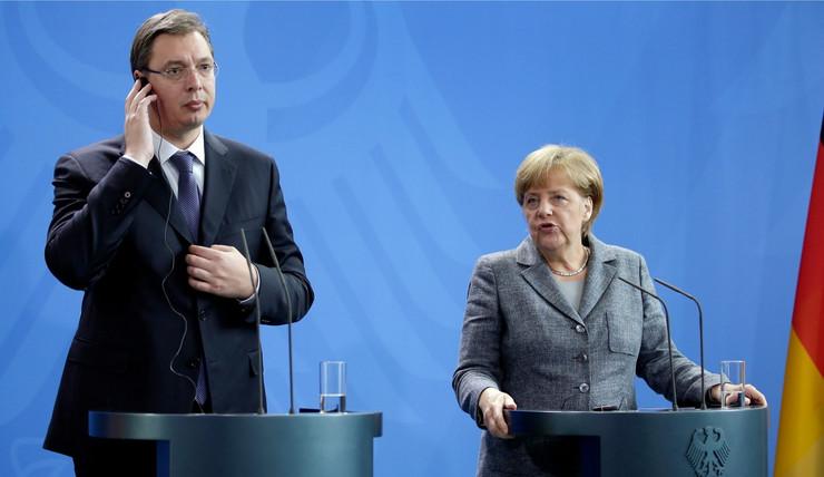 Aleksandar Vučić i Angela Merkel