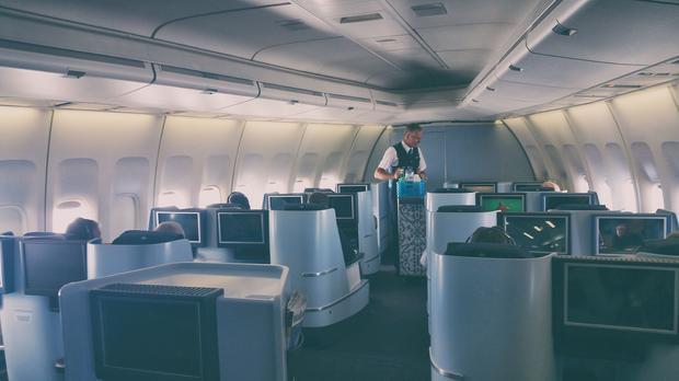 KLM 747, wnętrze klasy biznes