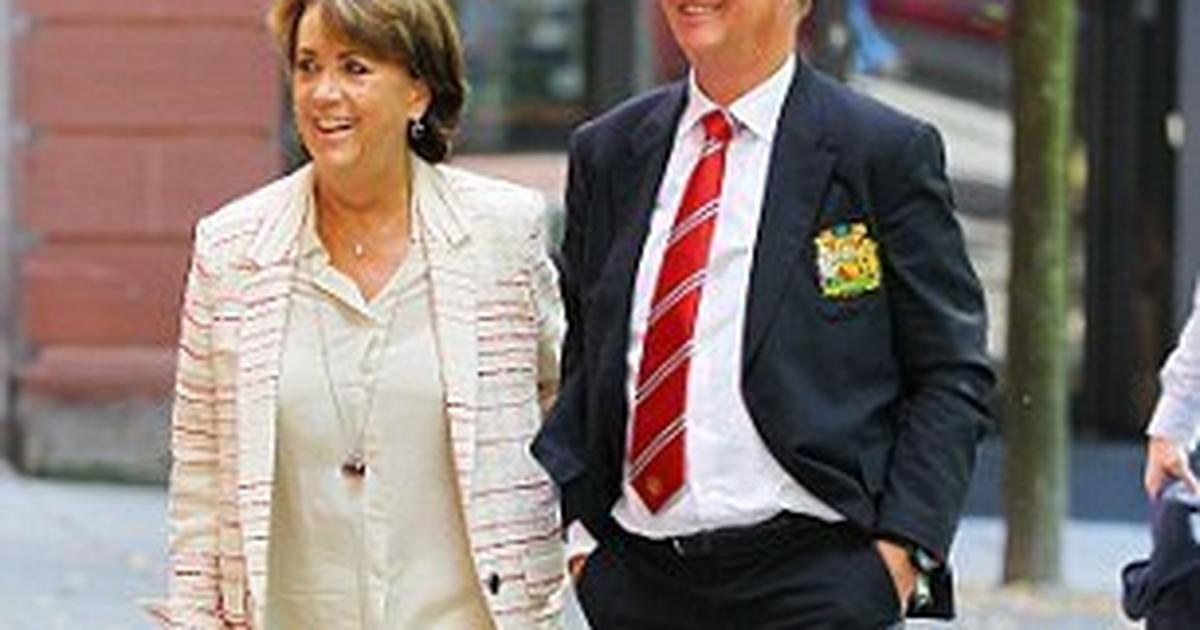Louis Van Gaal Manchester United Manager Celebrates 64th