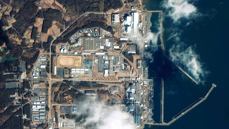 Elektrownia Fukushima z lotu ptaka