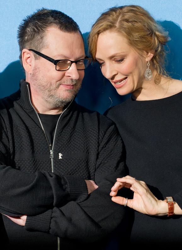 Lars fon Trir i Uma Turman na premijeri