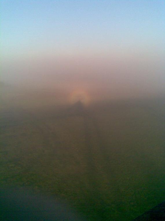 Tęcza nad cieniem pielgrzyma - autentyczne zjawisko atmosferyczne