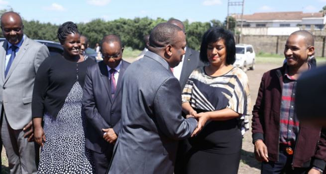 Nairobi Woman Representative Esther Passaris with Governor Mike Sonko