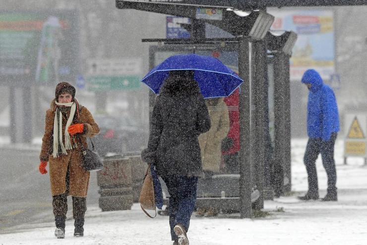Sneg, Zima, Beograd
